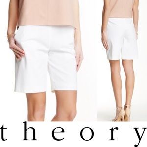 NEW Theory Palanis Approach Shorts in Cream, SZ 2